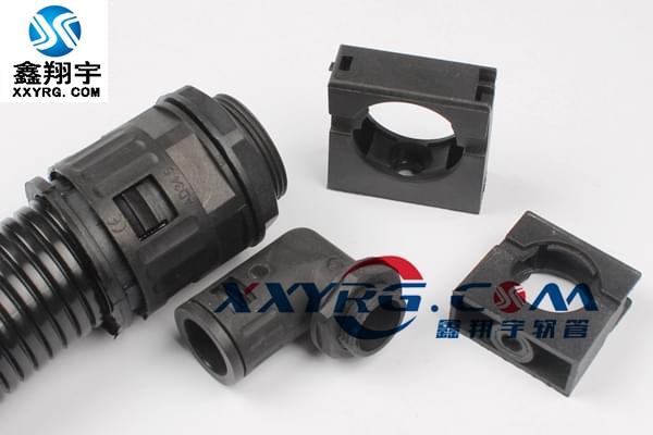 XY-8010塑料波纹管90度直角PA尼龙快速接头