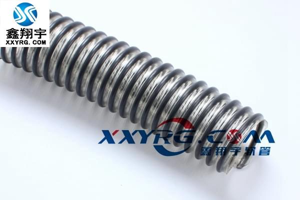 KS0909意大利IPL进口工业软管 耐磨pu灰色塑筋增强吸尘通风软管