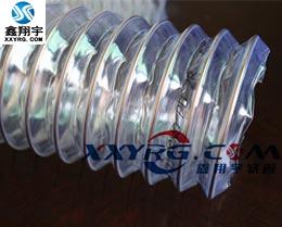 XY-0314进口聚氨脂pu透明钢丝伸缩吸尘管 木工专用通风吸尘