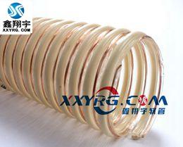 XY-0303意大利进口 pu透明塑筋增强 带铜丝 排静电 导静电吸尘软管