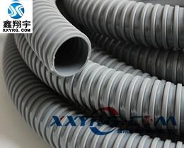XY-0417 pvc灰色方骨塑筋增强软管 灰骨喉 风琴管