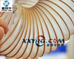 XY-0318意大利进口 聚氨脂pu透明钢丝伸缩管 木工吸尘 镀铜钢丝螺旋增强软管