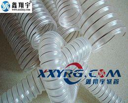XY-0301 聚氨脂pu透明钢丝伸缩软管 木工 钻孔机 印刷机 工业吸尘器软管 壁厚0.6mm